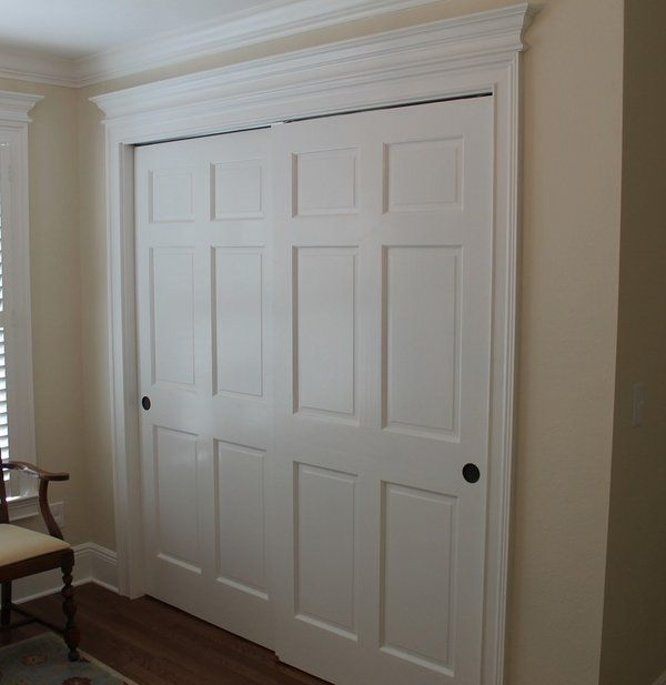 Traditional Bedroom Closet Bypass Sliding Closet Doors Space