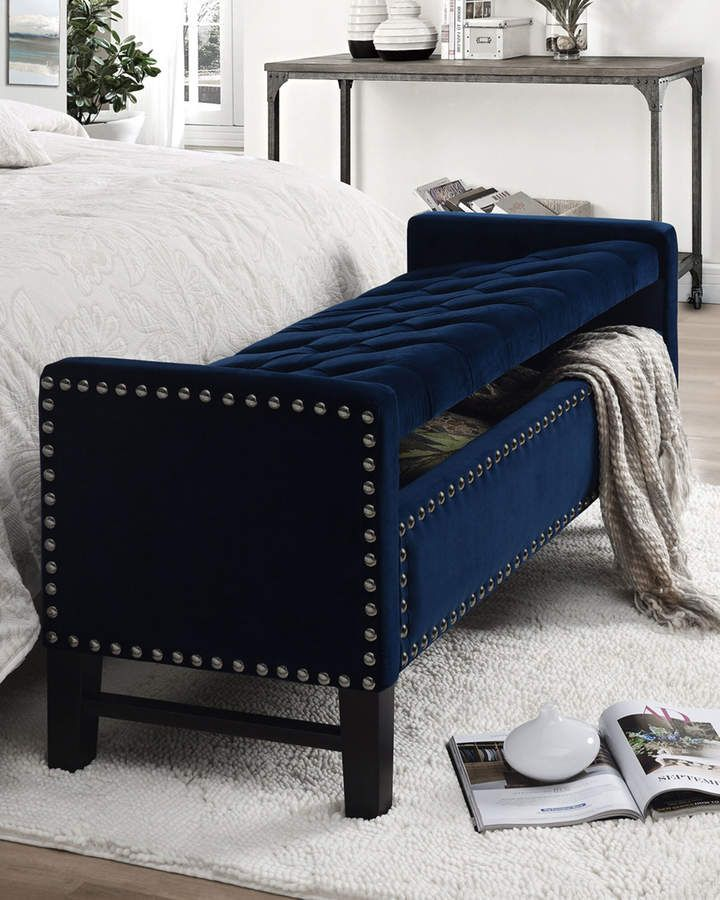 Inspired Home Tufted Velvet Storage Bench is part of Upholstered storage bench - Shop Tufted Velvet Storage Bench from Inspired Home at Neiman Marcus Last Call, where you'll save as much as 65% on designer fashions