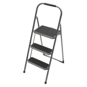 Easy Reach By Gorilla Ladders 3 Step High Back Steel Stool With Grip 200 Lb Load Capacity Type Iii Duty Rating Hb3 2 At The Home Depot