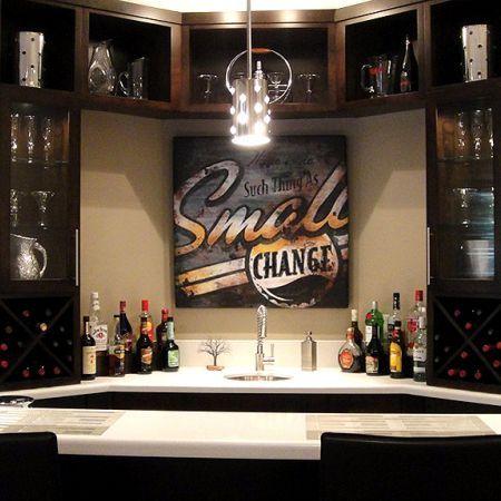 Basement bar. I want this.