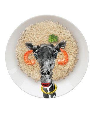 Giraffe Wild Dining Party Plate