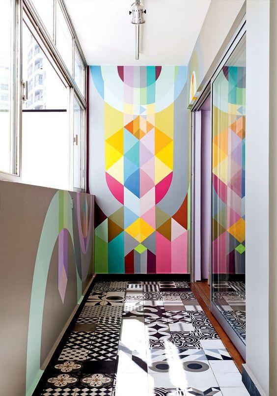 Blog Deco Loversofmint Idees Murs Multicolors Art