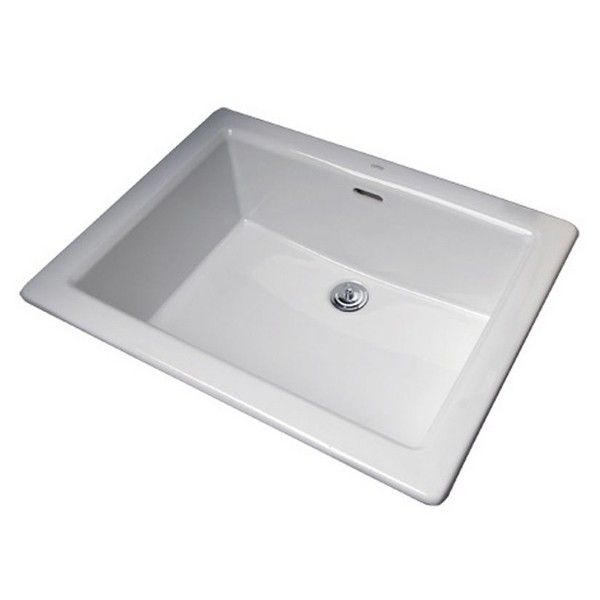 Cotto White Ceramic Drop In Sink Without Tap Landing 10x10mm | For ...