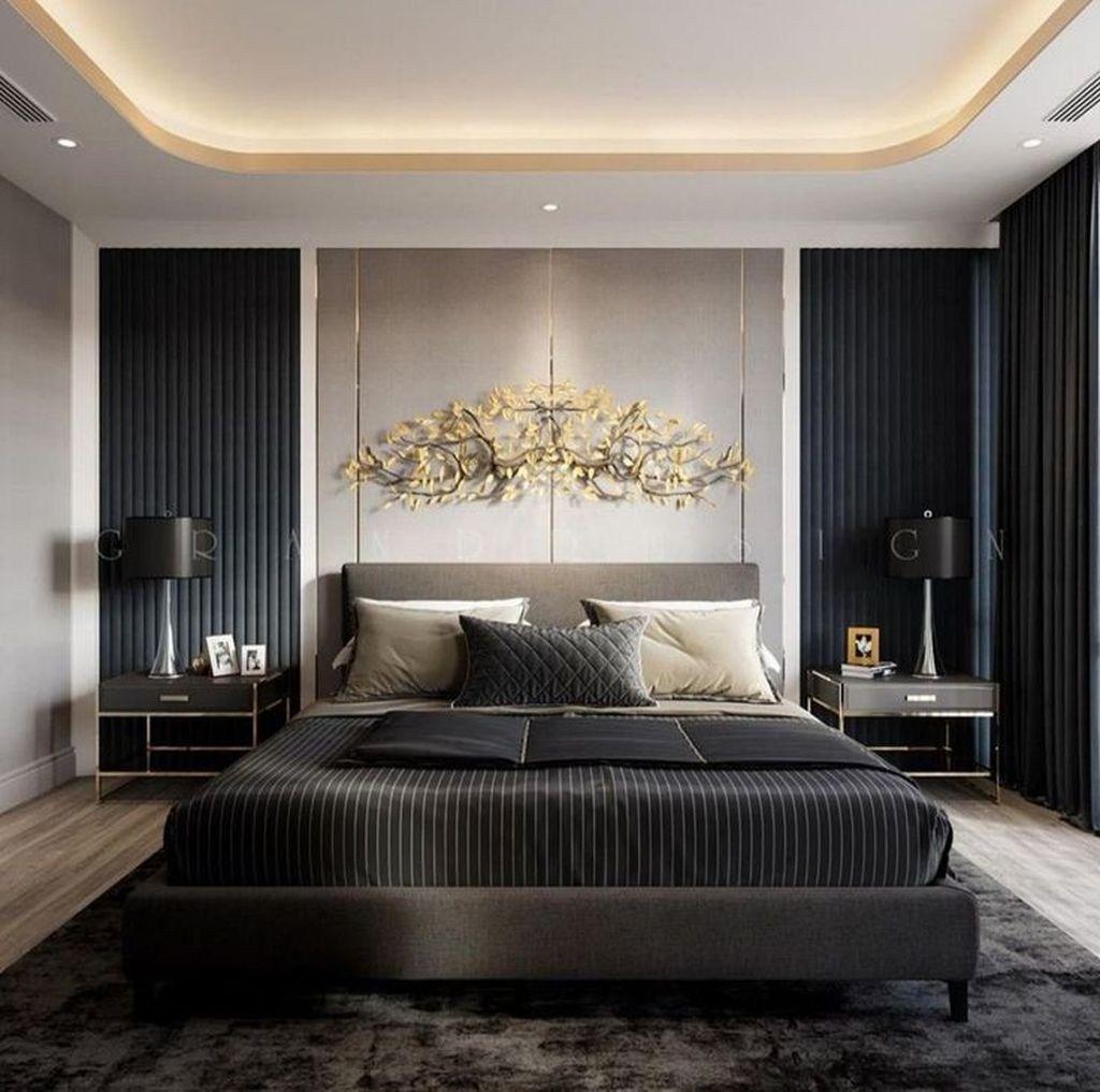 Masculine And Modern Man Bedroom Design Ideas 07(이미지 포함