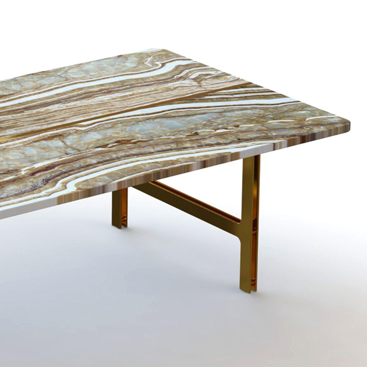 Split Coffee Table In Tiger Onyx Marble   Shop Francesco Meda Online At  Artemest