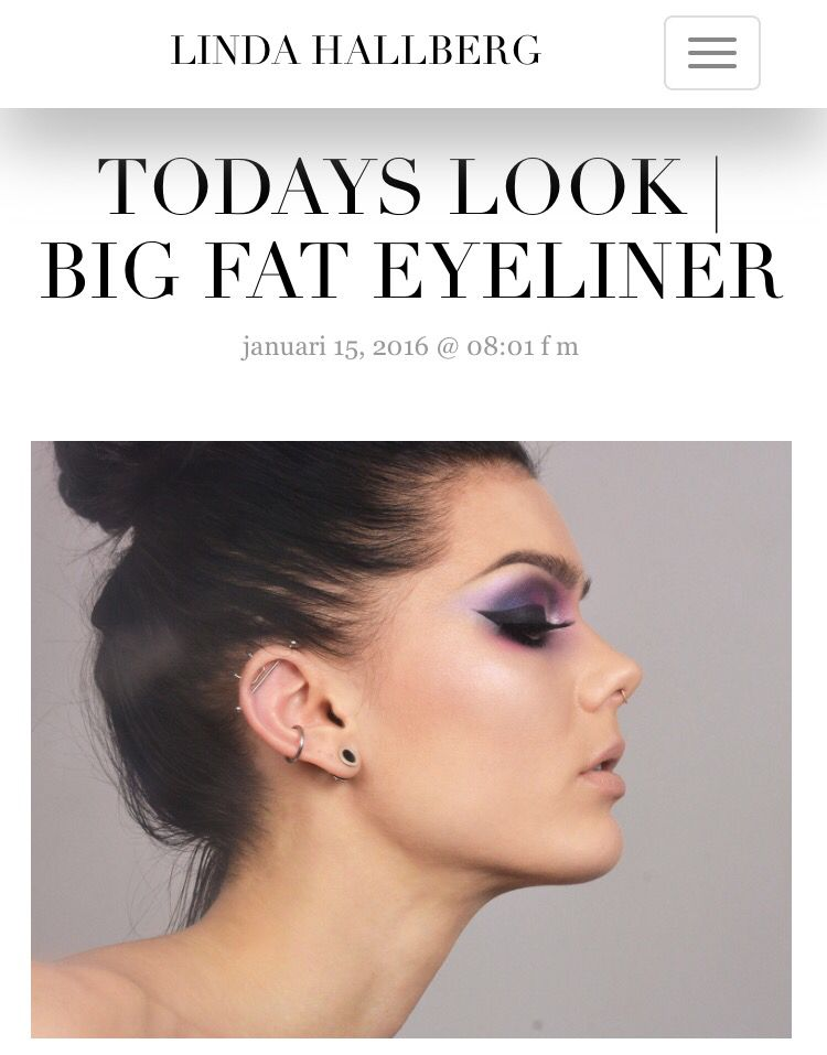 Today's look - big fat eyeliner