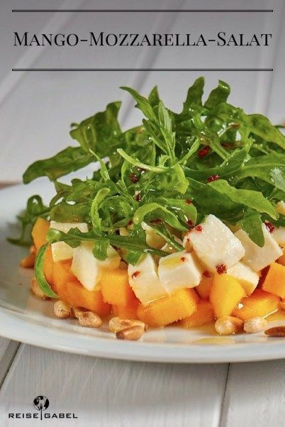Photo of Mango and mozzarella salad with arugula and lemon vinegar – travel fork