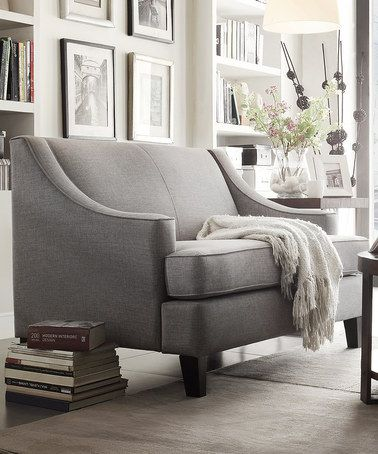 Another great find on #zulily! Gray Radford Linen Love Seat by HomeBelle #zulilyfinds