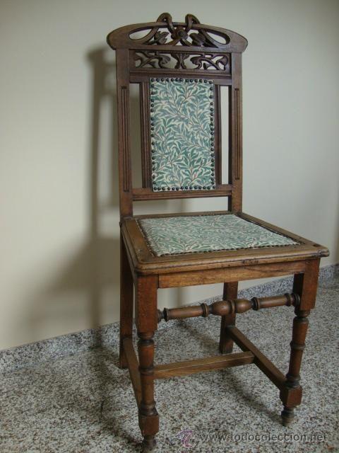 Silla modernista tapizada levintage pinterest - Tapizado de sillas antiguas ...