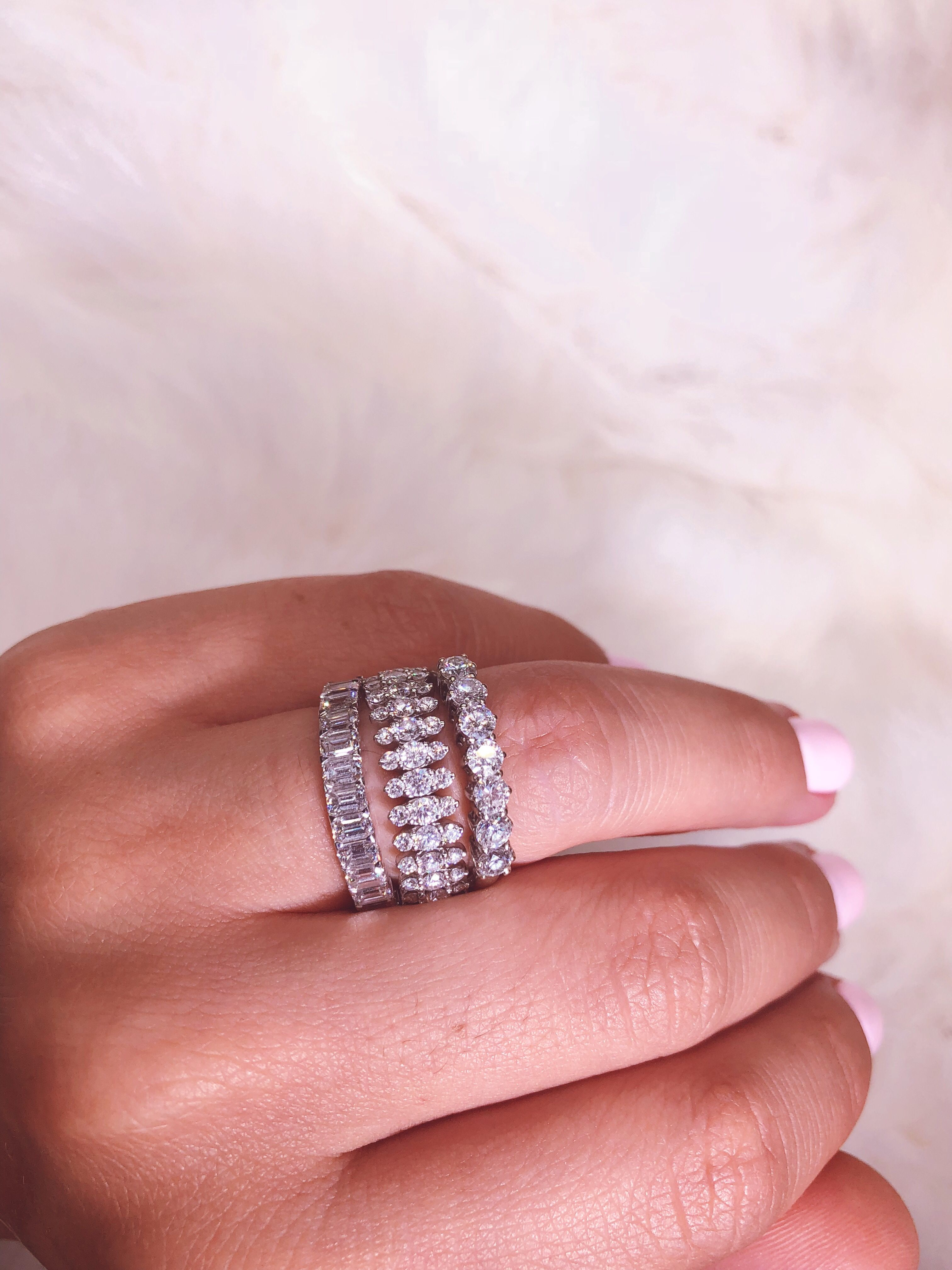 full round emerald diamond eternity band, Marquise diamond wedding ...