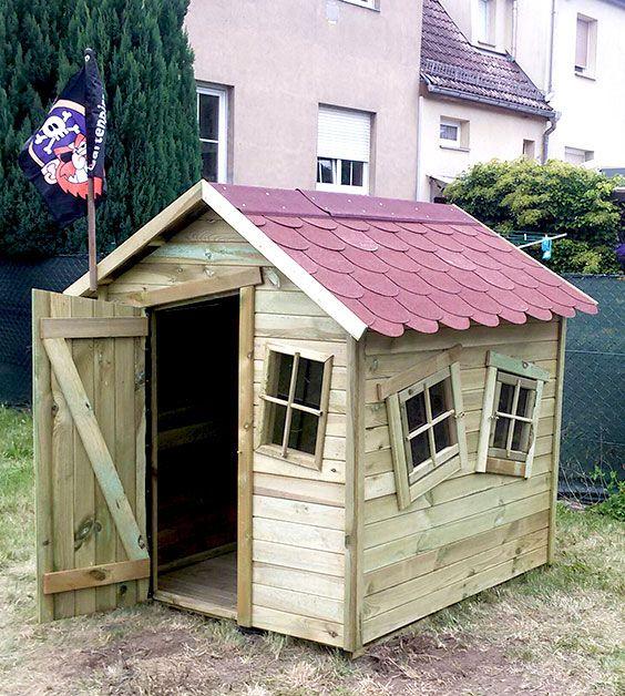 bausatz für #kinderspielhaus marie fun aus imprägniertem holz mit, Moderne