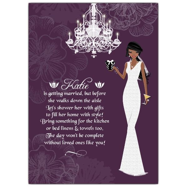 African American Bridal Shower Invitations Make her bridal shower - bridal shower invitation samples