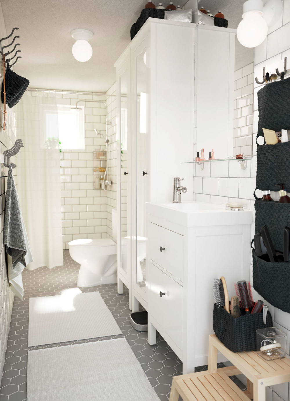 Salle de bain en longueur : conseils aménagement et déco en 19