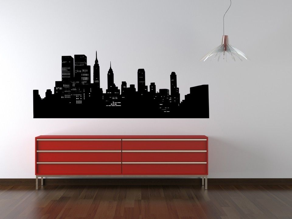 Wall Decal New York City Skyline Cityscape Travel Vacation Big Apple  Landmark Part 83