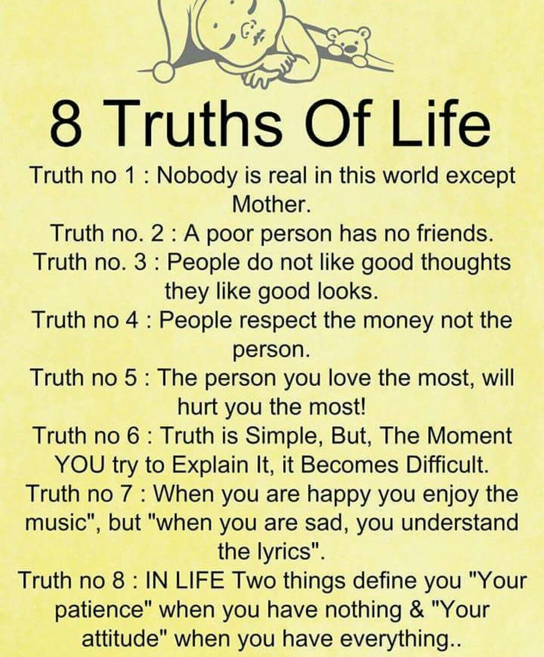 8 Truths Of Life Knowledge Quotes Genius Quotes Great Inspirational Quotes