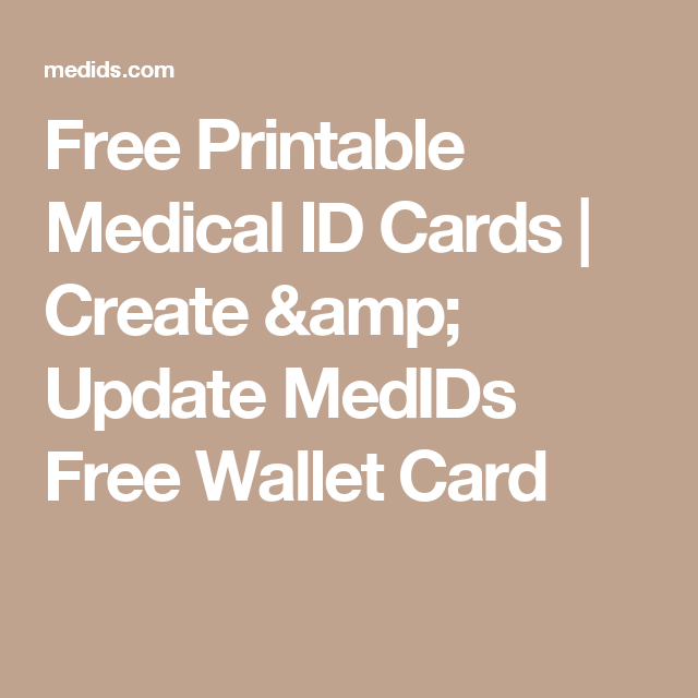 image regarding Printable Medical Id Card identify Totally free Printable Health-related Identity Playing cards Deliver Improve MedIDs
