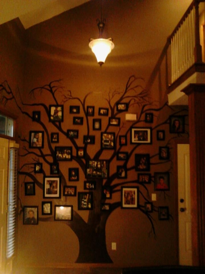 Mural I Hand Painted Family Tree on my daughters wall Pictures