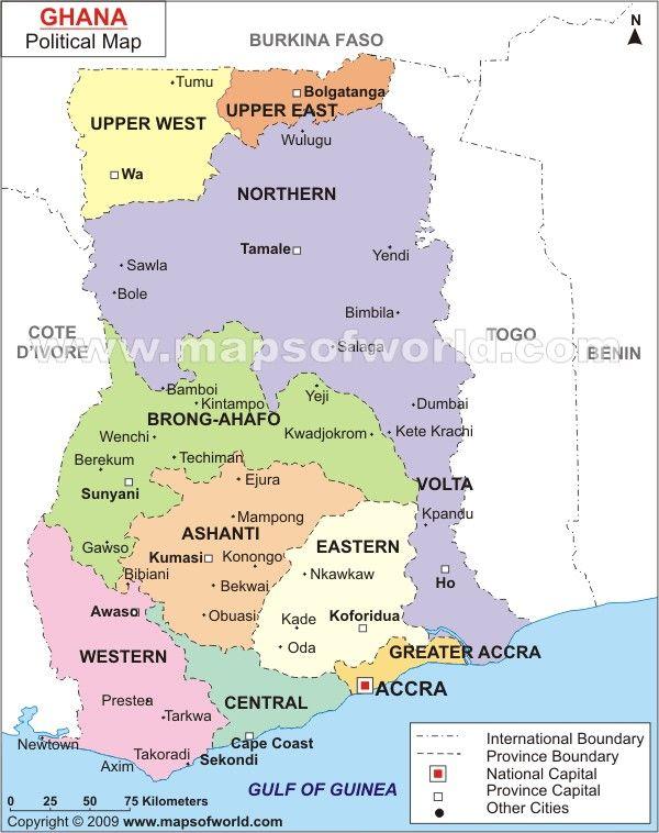 Ghanapoliticalmapjpg Cartography Pinterest - Map of ghana