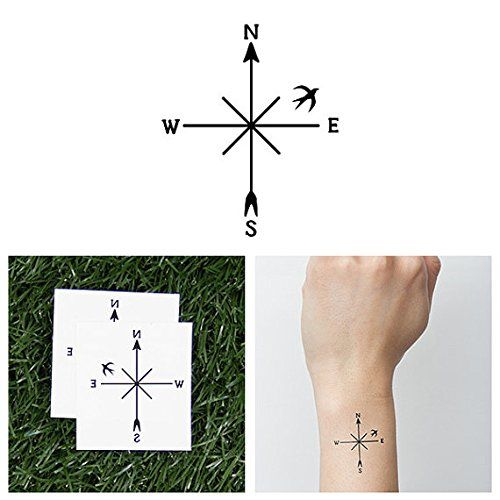 50 Beautiful Compass Tattoo Designs And Meanings: 110 Best Compass Tattoo Designs, Ideas And Images