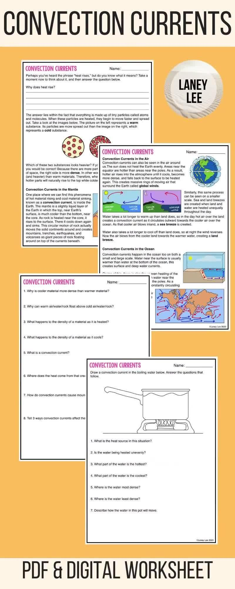 Convection Currents Guided Reading Worksheets Pdf Digital Versions Video Video In 2020 Guided Reading Worksheets Guided Reading Reading Worksheets