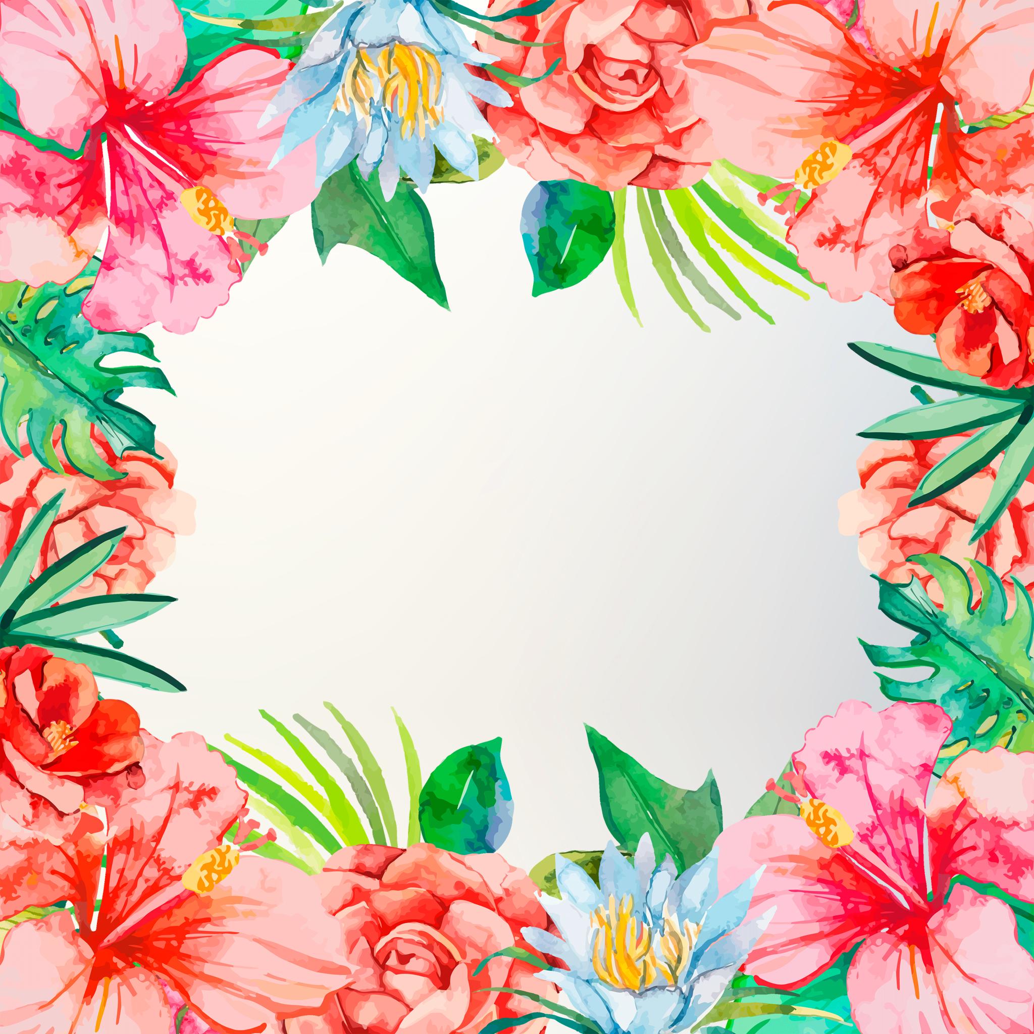WallpaperTropicalFlowersiPad.png (2048×2048) Tropical