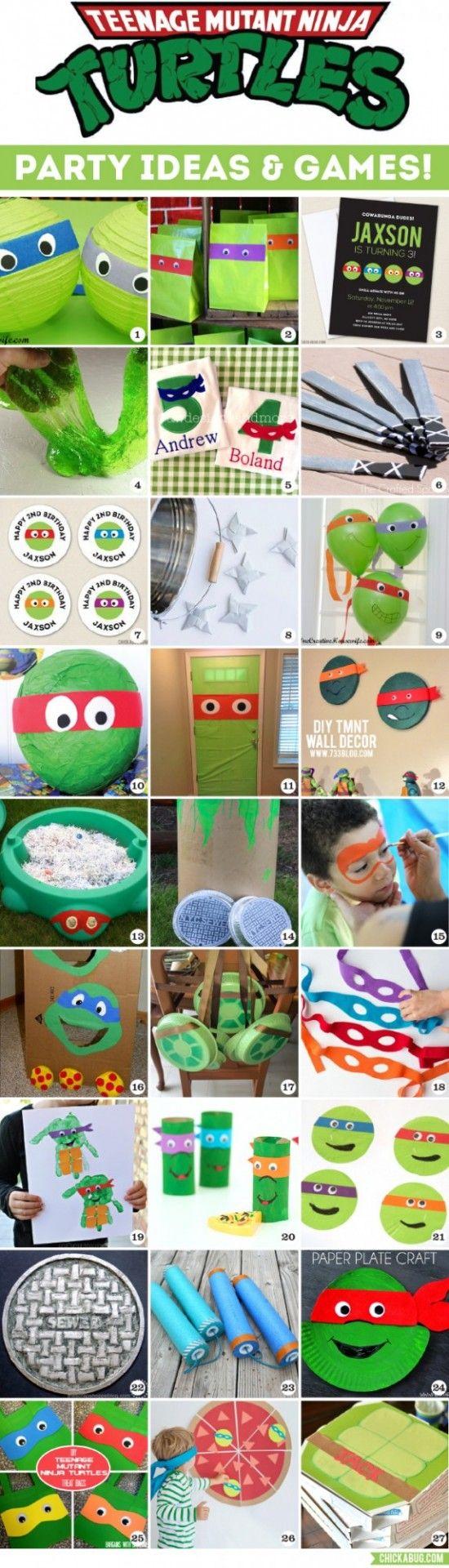ninja turtle party ideas that you 39 ll love geburtstage kindergeburtstag deko und kreative. Black Bedroom Furniture Sets. Home Design Ideas