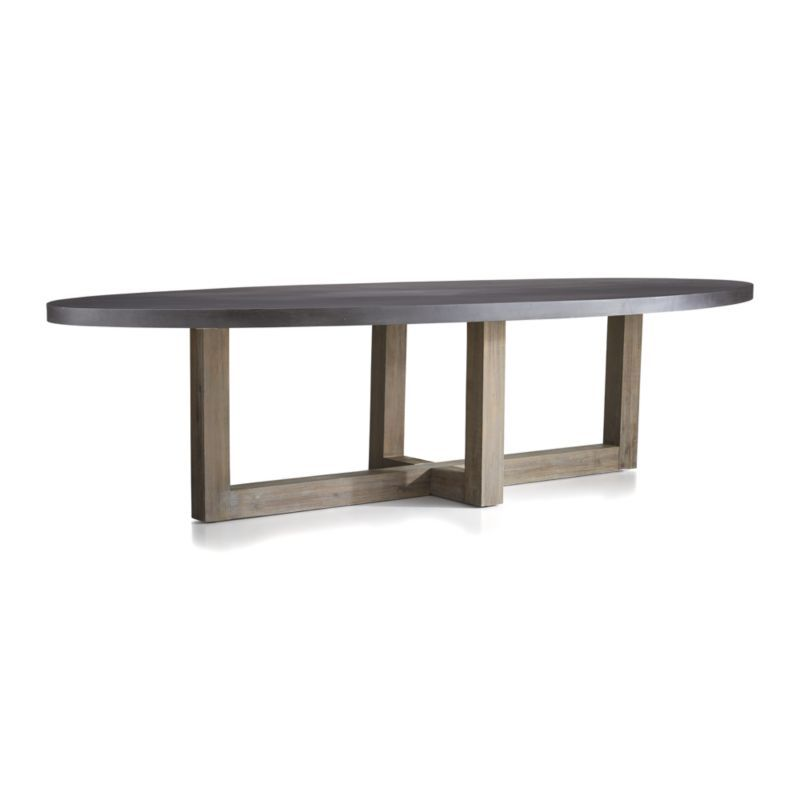 woodward oval dining table with solid wood base crate and barrel rh pinterest com