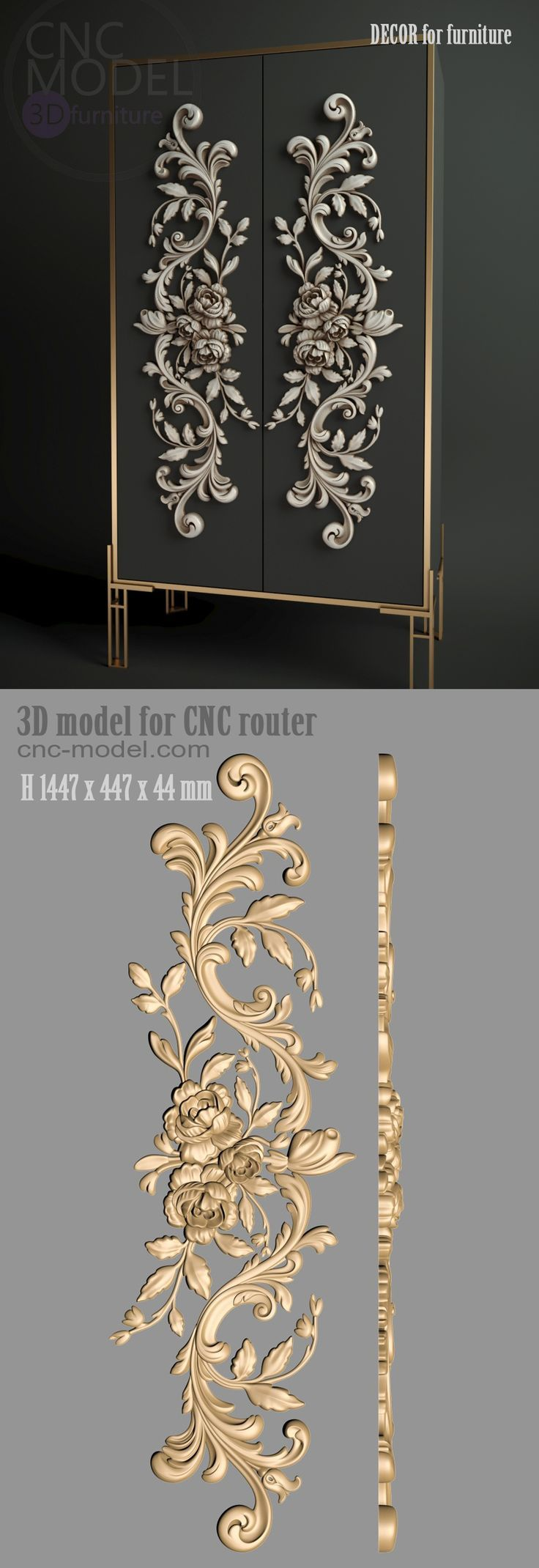 3d Create Your Own Room: A1247 DECOR For Furnishings Cnc-model.com 3D Mannequin For