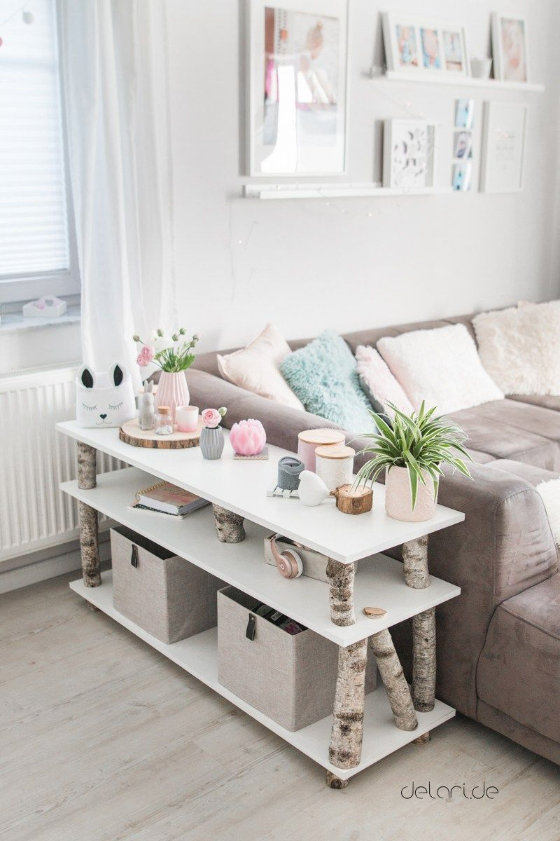 Birken-Baum-Regal DIY für unter 40€ - Wohnzimmer - delari #wohnzimmerdeko