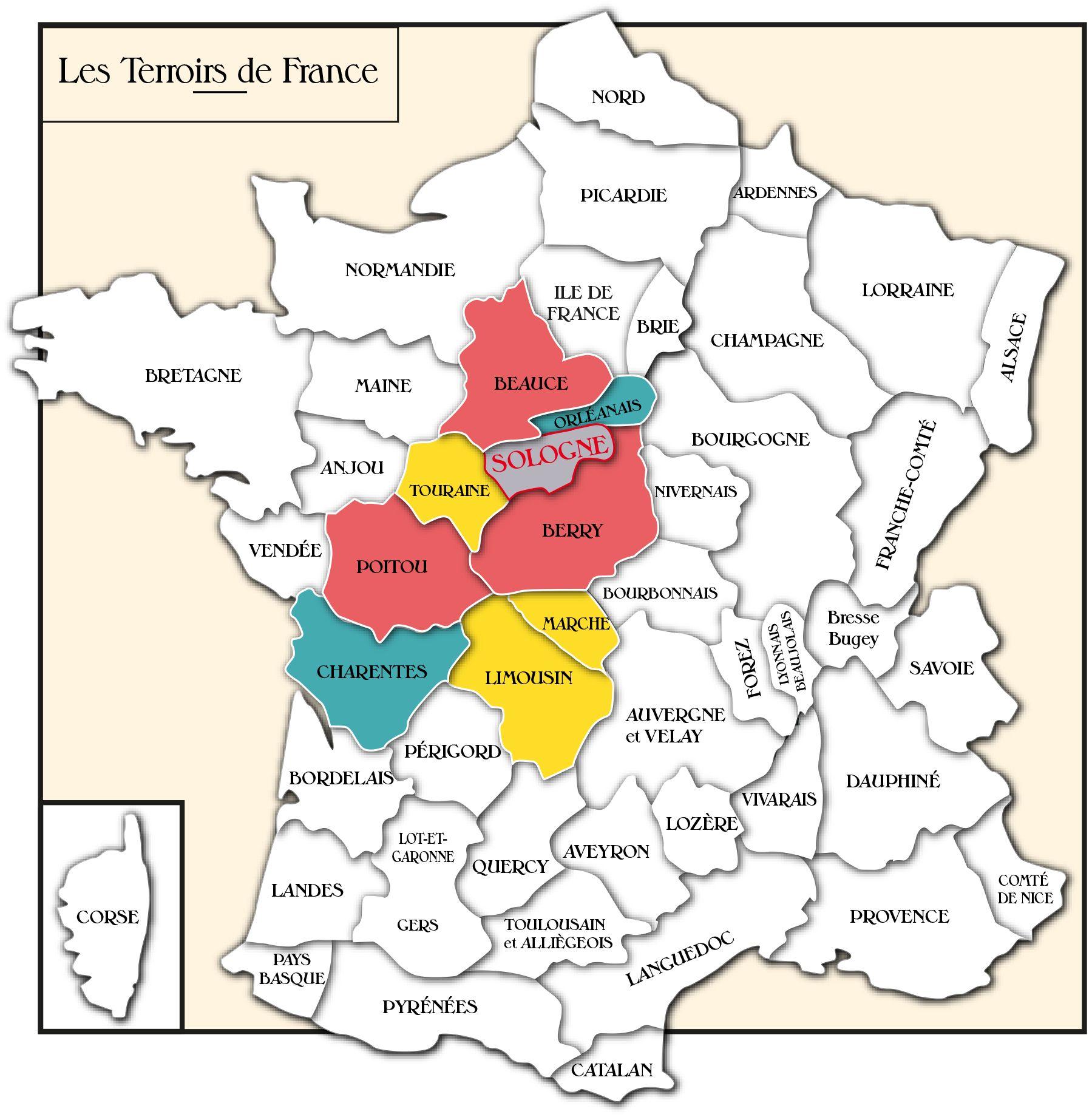 carte de la sologne Épinglé par Léa Erual sur Cartes terroirs et tourisme (avec images