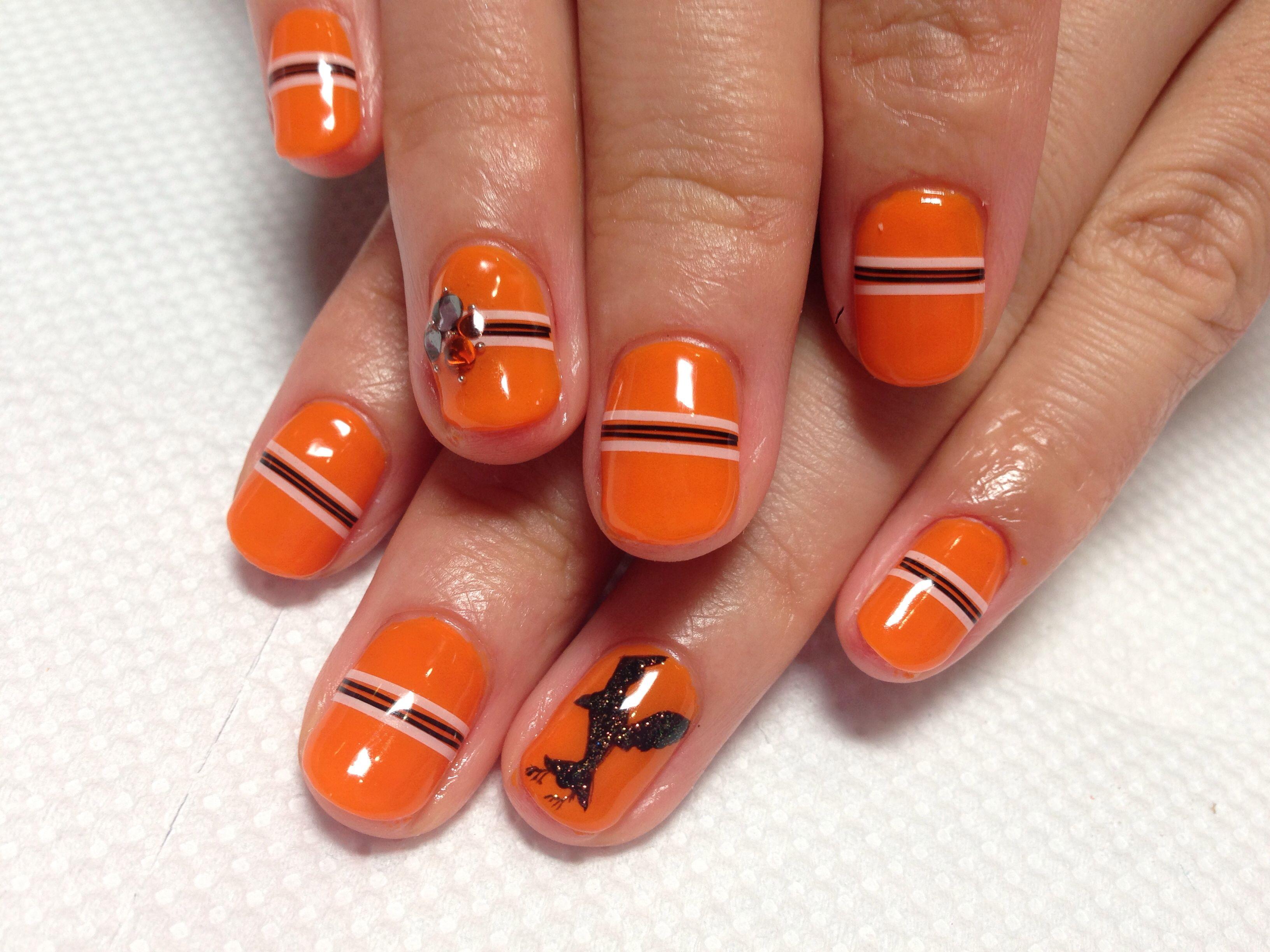 Image Of Haikyu Comic Volleyball Uniform Collor Of Karasuno High School Cute Gel Nails Short Acrylic Nails Nails