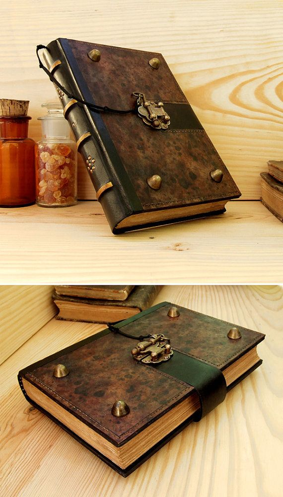 Large Leather Journal With Lock The Brown Book Journal With Lock Vintage Leather Journals Leather Journal