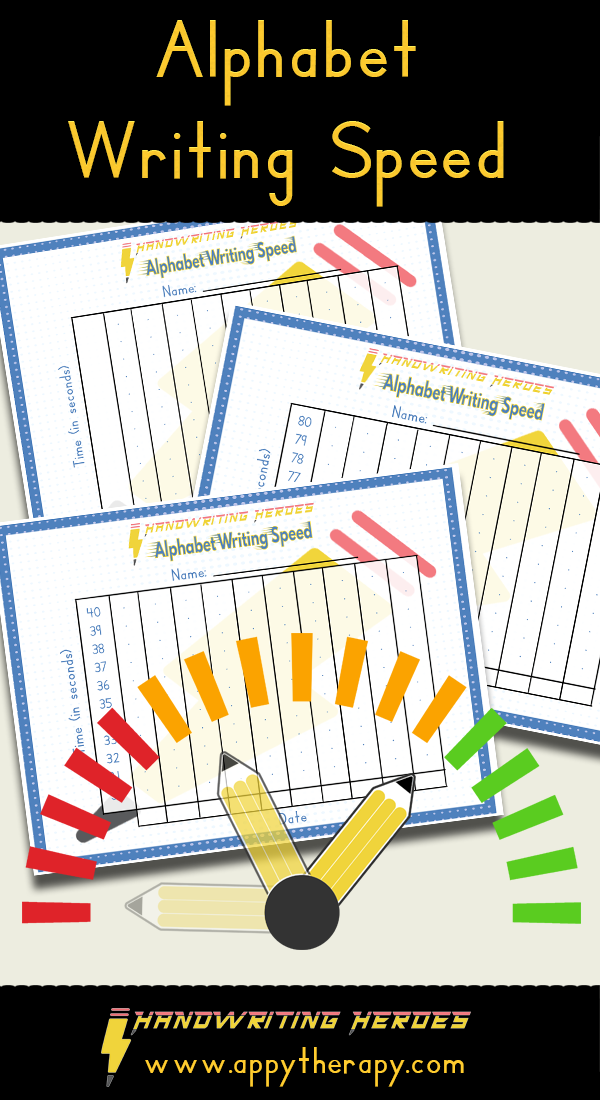Alphabet Writing Speed Alphabet Writing, Handwriting Activities,  Handwriting Instruction