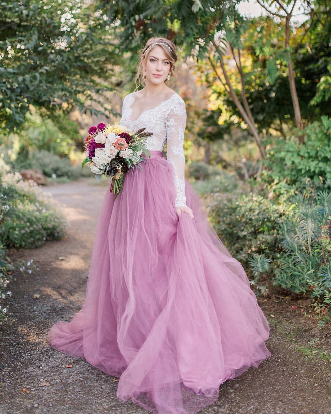 Wedding dress bodysuit  Spring  Norma J skirt in Mauve  Vivianne bodysuit  shop