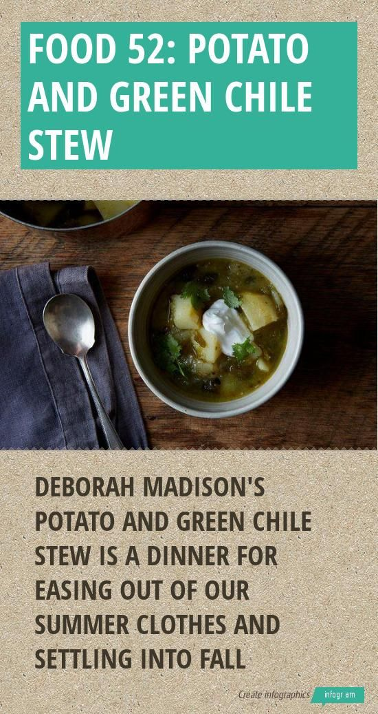 Food 52: Potato and Green Chile Stew - #idahopotatoes @food52