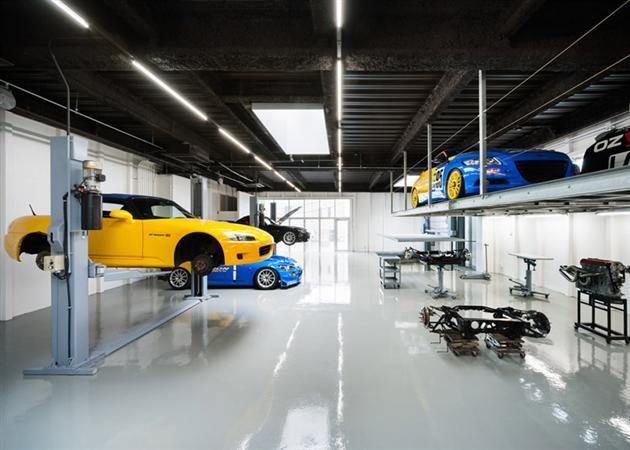 Modern Speedshop Type One Garage In Japan Tokyo Garage Design Mechanic Garage Led Garage Lights