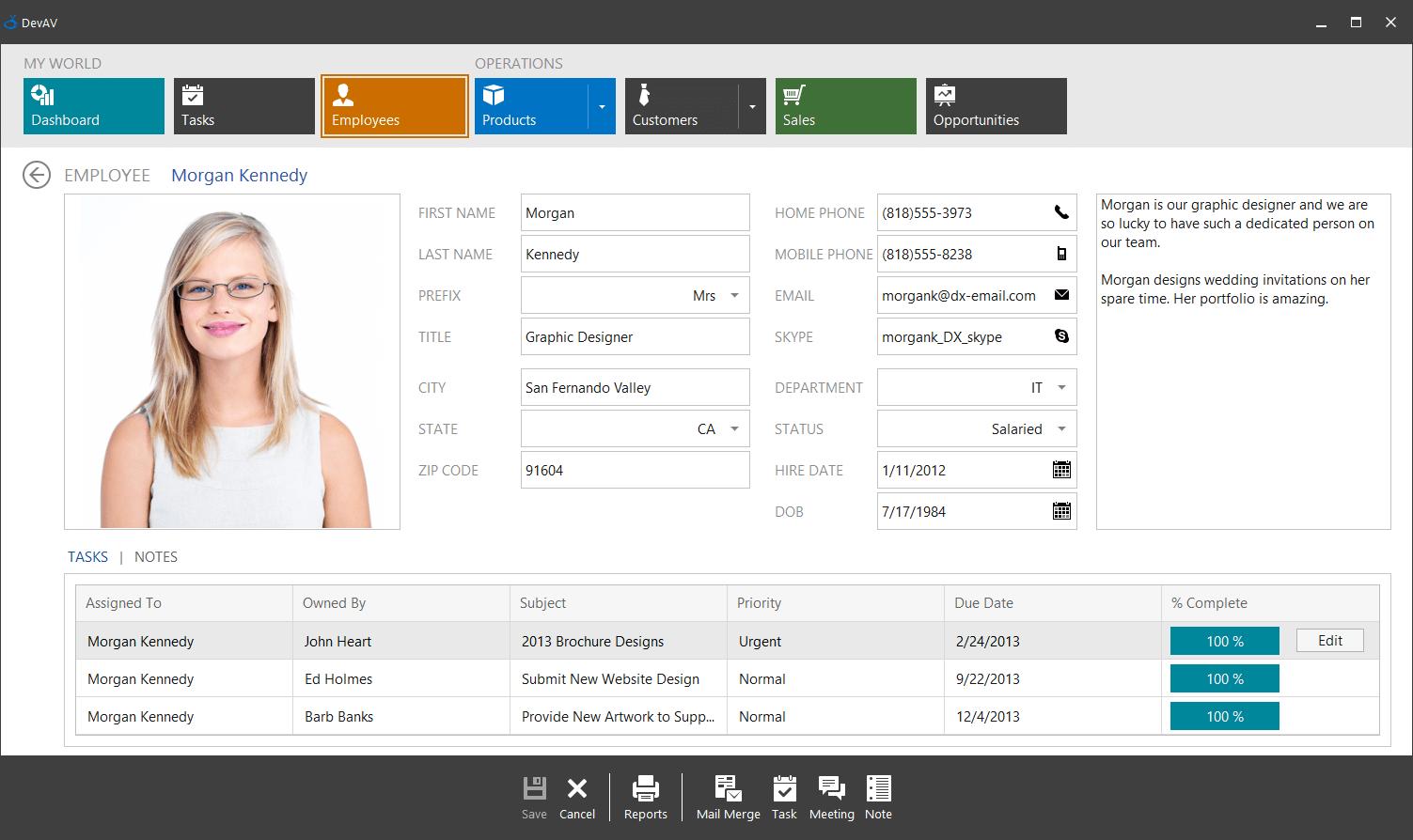 Winforms ui design examples