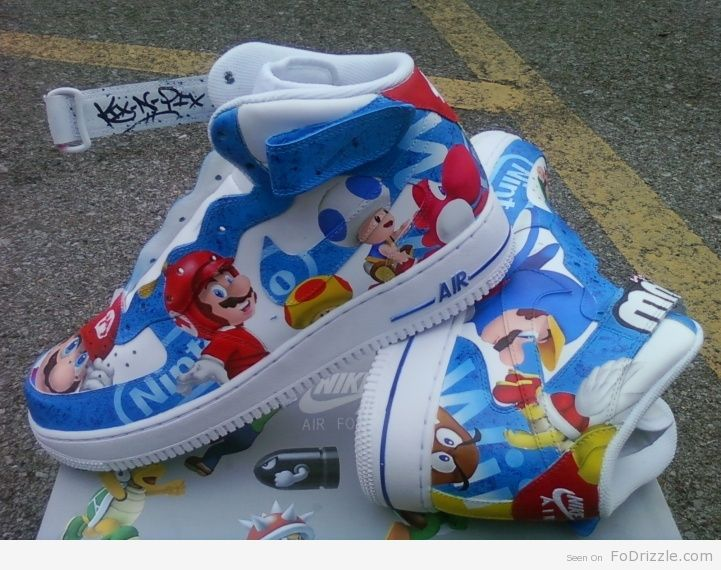 san francisco ff35f 26499 Love it for my boys Super Mario Brothers Air Force Ones