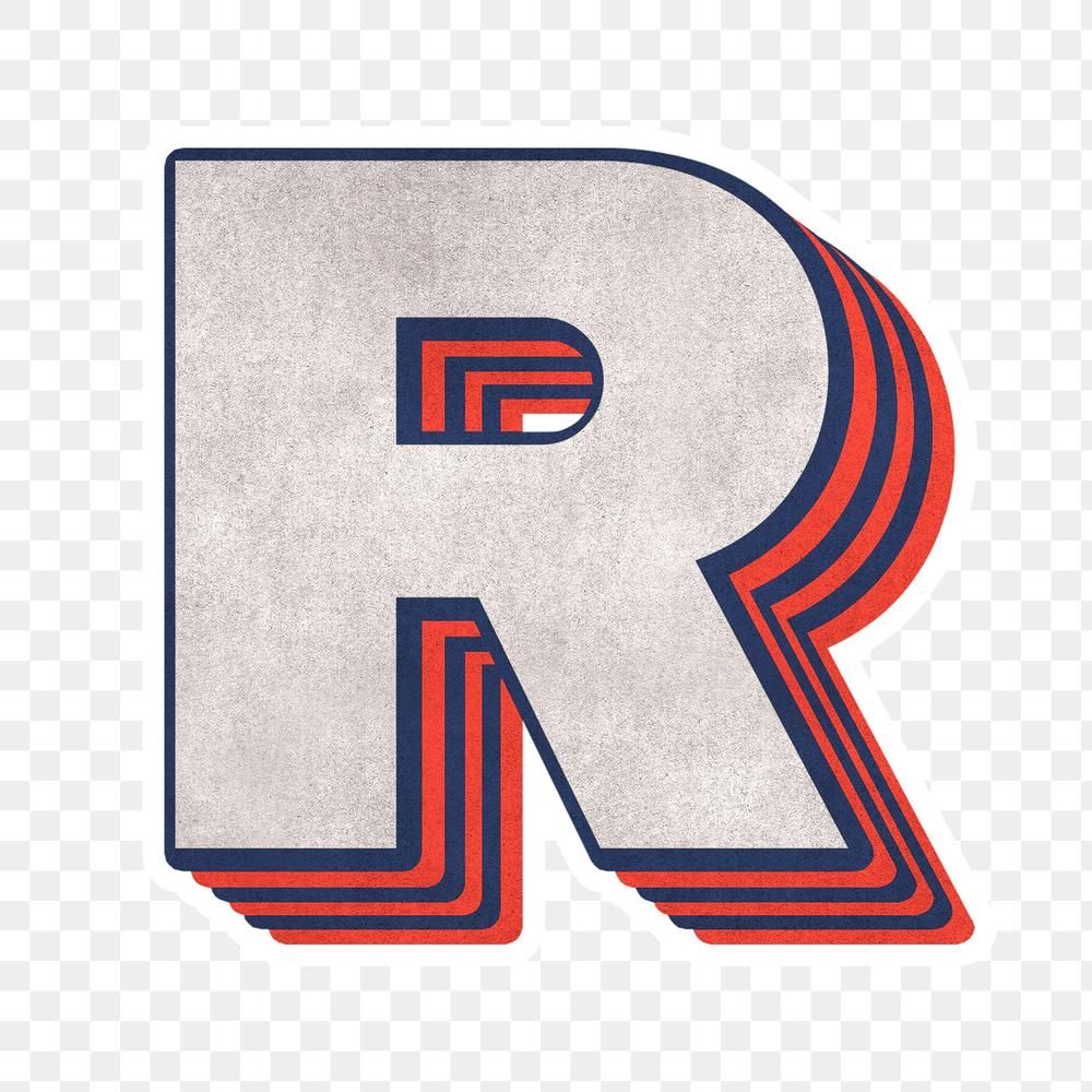Letter R Png Layered Effect Alphabet Text Free Image By Rawpixel Com Cuz Letter R Monogram Wall Art Overlays Transparent