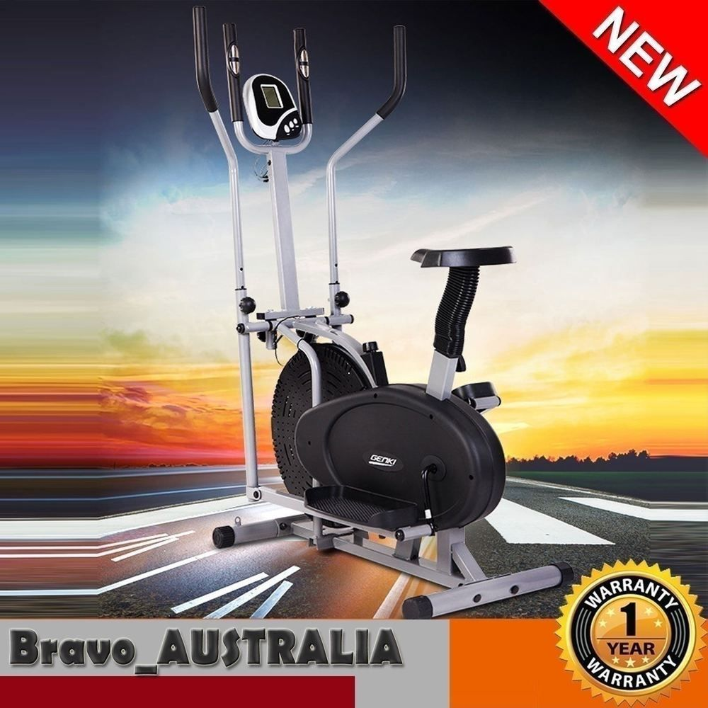 Elliptical cross trainer machine home gym fitness exercise
