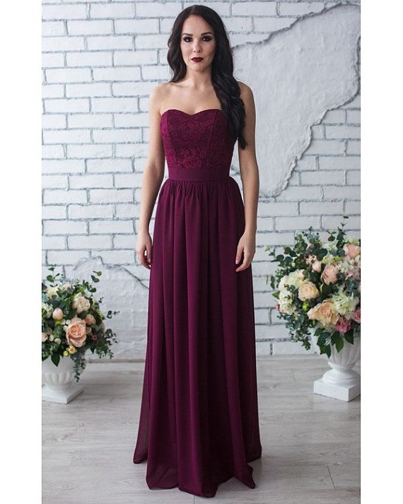 This Is The Color I Am Looking For Bridesmaid Marsala Dress Сorset