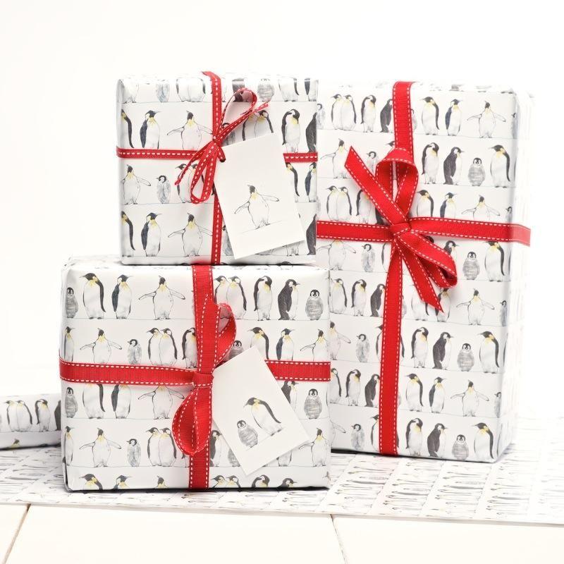Emperor Penguin Gift Wrap | Julia Davey