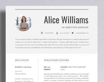 Resume Template With Photo Cv Template  Resume Template  Cv Design  Cover Letter  Cv