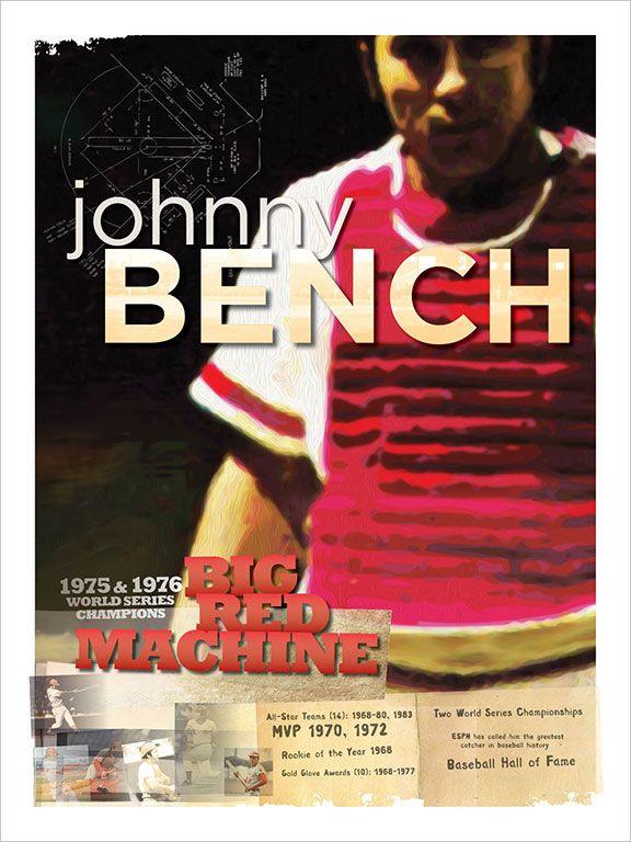 Chip Barthelmes Johnny Bench Cincinnati Reds Baseball Reds Baseball