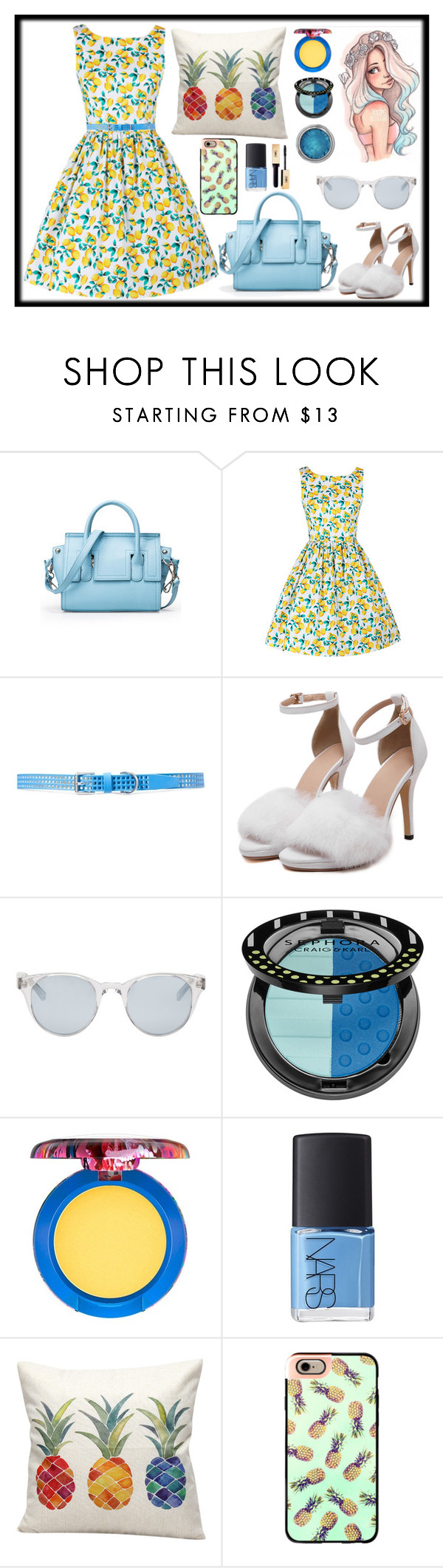 """""""LEMON & PINEAPPLE // itsybitsy62"""" by itsybitsy62 ❤ liked on Polyvore featuring Lauren Ralph Lauren, Sun Buddies, Sephora Collection, MAC Cosmetics, NARS Cosmetics and Casetify"""