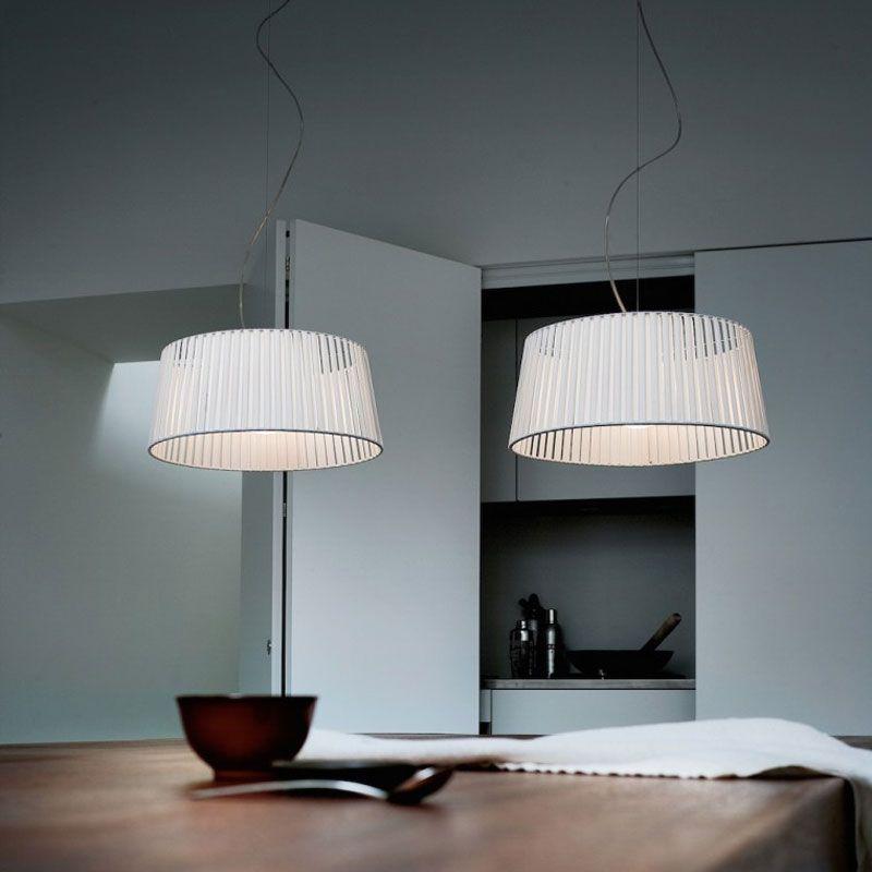 Ribbon SO2 2-Light Suspension by Morosini - Medialight | 0484SO08BIAL #pendantlighting