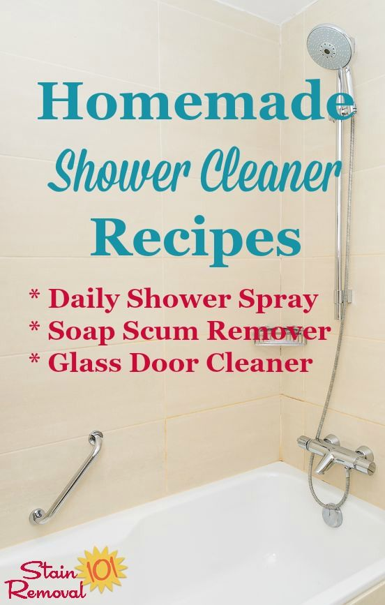 Read Several Homemade Shower Cleaner Recipes For Daily Or Periodic Uses Including To Clean Glass Doors Of Hard Water And Soap Scum Buildup