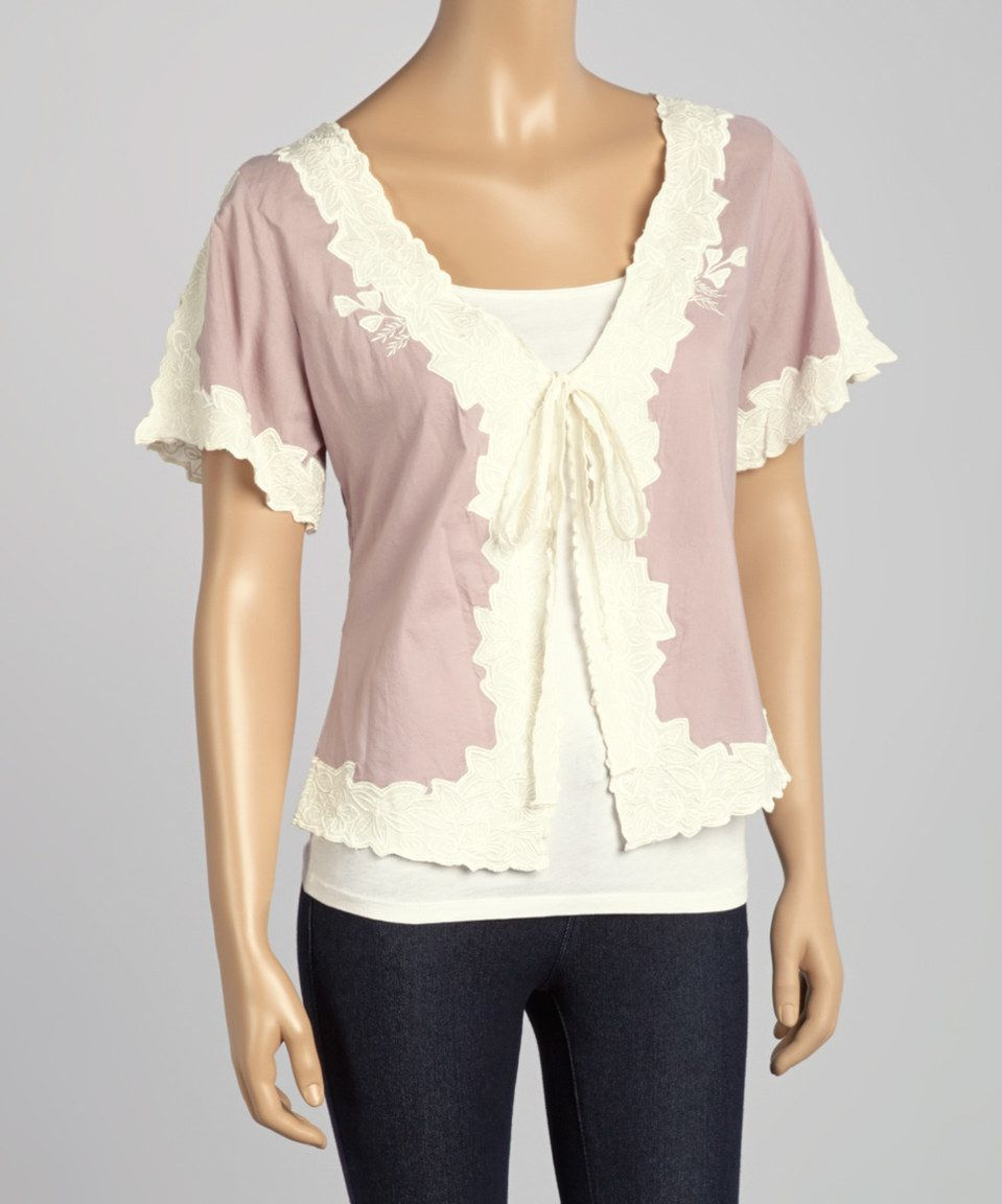 Loving this Papillon Imports Purple Floral Ruffle Silk-Blend Crop Top on #zulily! #zulilyfinds