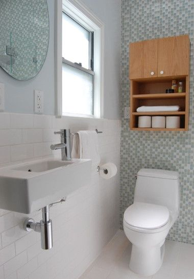Great small #Bathroom Remodel with double shower heads and style