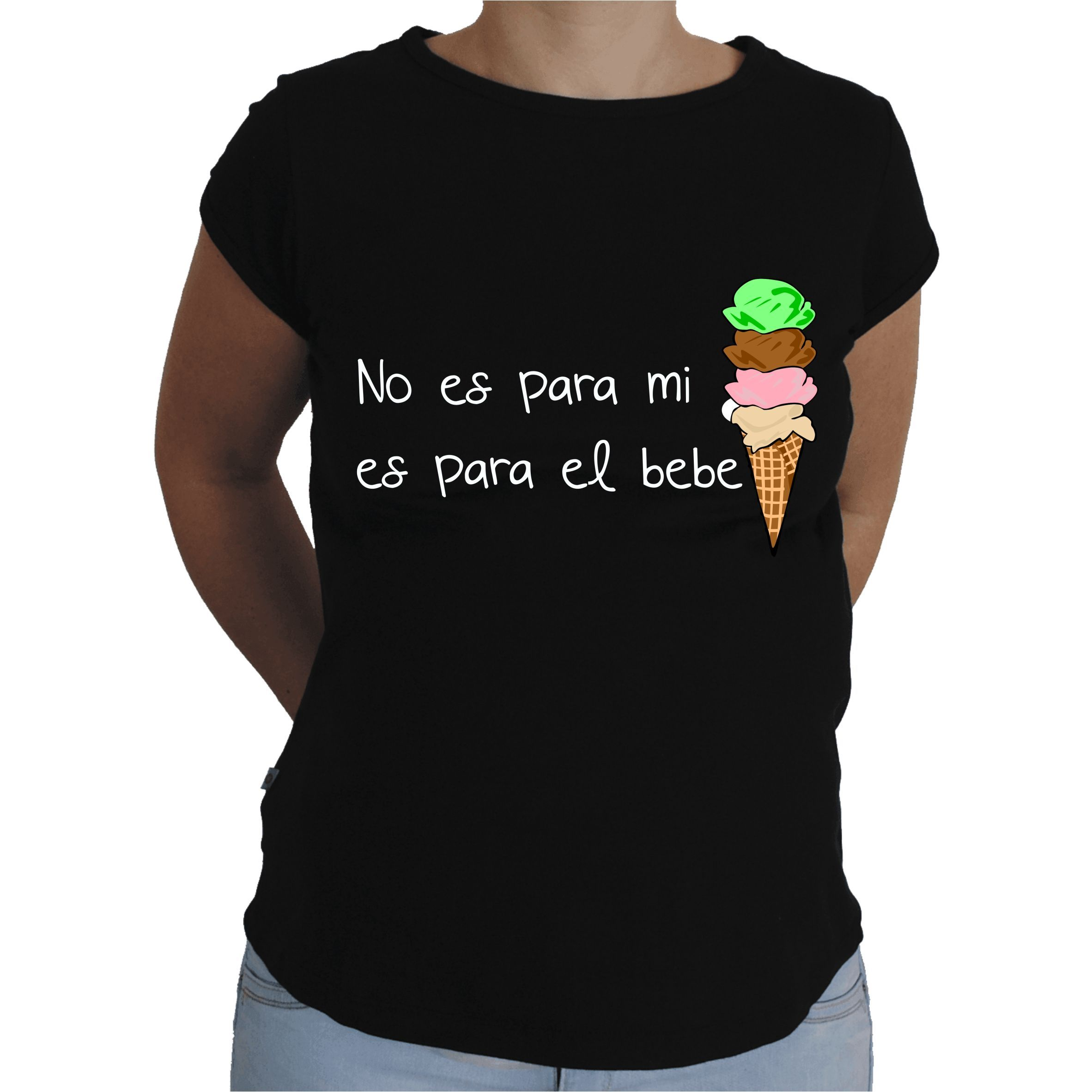 7c2b1fb7d Camiseta para embarazada Divertida - Helado.